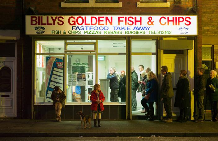 Ashington District Star recreate Fish and Chips by Fred Laidler working with photographer Julian Germain