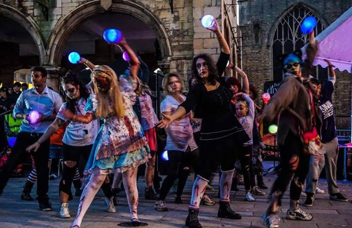 Diwali vs The Zombie Walk - commissioned by Peterborough Presents