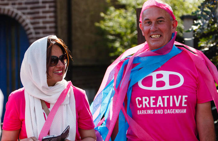 Creative Barking and Dagenham. Cultural Connectors at DAGfest 2015. Photo Dabuju Media