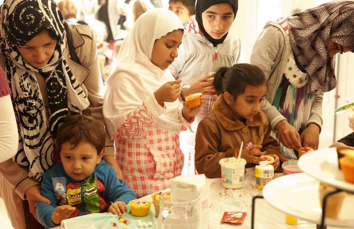 Mad Hatter's Tea Party as part of Sadia Ur-Rehman's neighbourhood commission at Mark's Gate