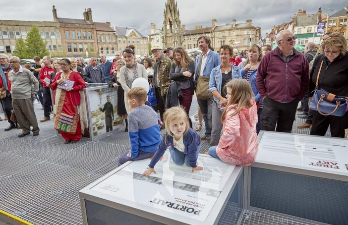 The launch of 'Portrait' in Mansfield Market Place