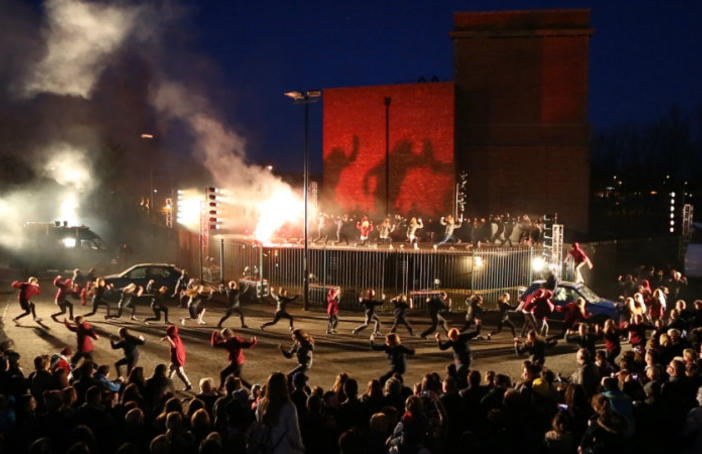 Performance of Rush. The Cultural Spring, Sunderland. Photo: Dan Prince