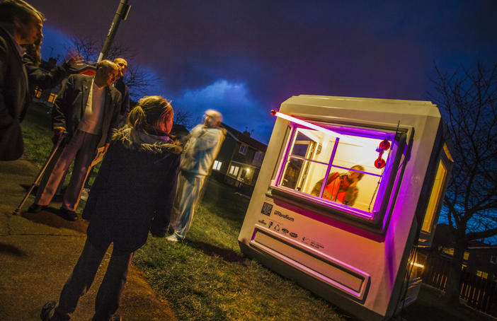 East Durham Creates' VoiceOver project in Horden. Photo: Richard Kenworthy