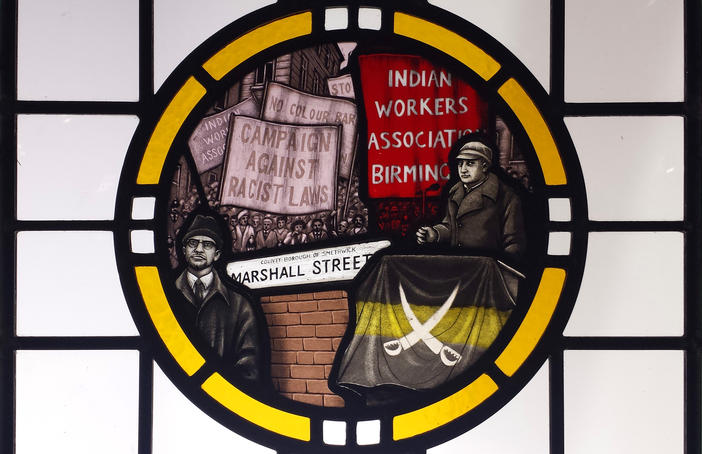 Against Racism stain glass - Desi pubs project