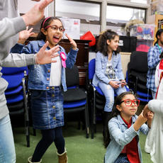 Drop In Drama workshop, Creative People and Places Hounslow. Photo: Alex Brenner